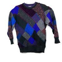 Vtg Marienbad Mens Multicolor Geometric Shape Crewneck Sweater Sz XL Coogi Style