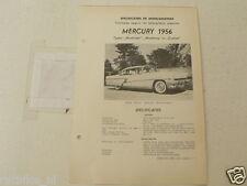 MER2--MERCURY 1956 MONTCLAIR,MONTERY,CUSTOM ,TECHNICAL INFO CAR OLDTIMER