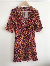 ZARA Crossover Tea Dress With Floral Print M
