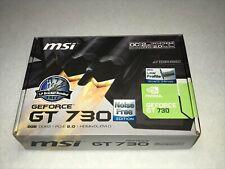 MSI NVIDIA GEFORCE GT 730 2GB GDDR3 N730K-2GD3H/LP Video Graphics Card GPU