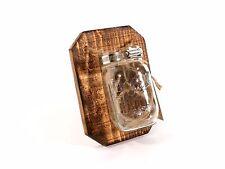 Handmade Single Mason Jar Hanger (Wall Art/Vase) --- Flintface Woodshop