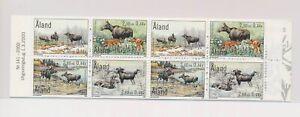 LO37752 Aland 2000 moose animals wildlife good booklet MNH