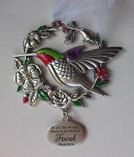 s In all world there is no better friend BLESSED BEYOND MEASURE bird Ornament ga