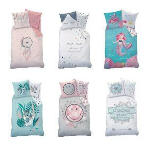 Kinder-Bettwäsche / Mädchen-Bettwäsche Renforce 80x80 135x200 cm 100% Baumwolle