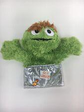 """Sesame Street Oscar the Grouch 9"""" Hand Puppet 2013"""
