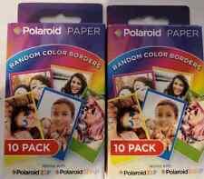 Polaroid 840102180268 Random Color Zink Photo Paper 2X3 Lots of 2, 20 Photo