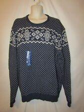 mens Izod holiday christmas ski sweater 2XL nwt $80 1/4 blue