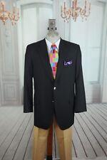 David Chu Lincs Men's Navy Wool Spot Coat Blazer 42T Tall Portly
