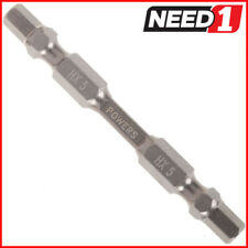 10 Packs of POWERS Double Ended #5 x 65mm Hex Impact Screwdriver Bits