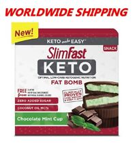 Slim Fast Keto Fat Bomb Chocolate Mint Cup 14 Ct 8.4 Oz WORLDWIDE SHIPPING