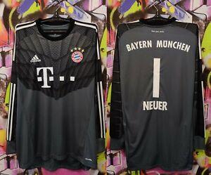 Bayern Munich Neuer #1 Home Football Soccer Longsleeve Goalkeeper Adidas Mens XL