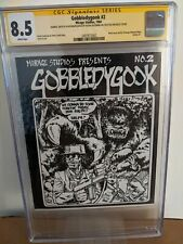 Gobbledygook #2 CGC SS 8.5 W pages. Signed sketch & authenticated Eastman! TMNT