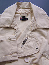 Diesel Women's Jacket Large Beige Double Breasted Cotton Vintage  # LJKTz800
