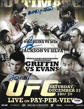 Frank Mir Antonio Rodrigo Nogueira Rampage Jackson Signed UFC 92 Mini Poster PSA