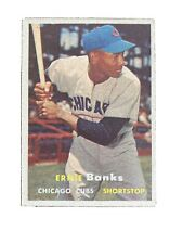 1957 Topps # 55 Ernie Banks Chicago Cubs