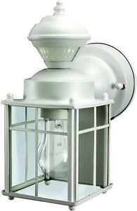 Motion Sensor Porch Light Wall Lamp Fixture Outdoor Exterior Glass Decor Lantern