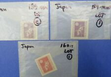 Japan Scott 159 (1 used + 1 mint) and 160 (mint hinged) (Lot 27)