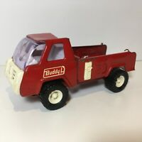 """Vintage Buddy L Red Truck Pressed Steel Made in Japan Approx 6"""" Rare"""