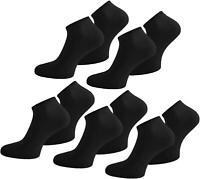 10 Paar  Sneaker Socken Sport Freizeit Baumwolle Weiß Schwarz Herren Damen