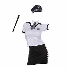 Ladies British Police Woman Costume Womens Cop Fancy Dress Constable Outfit New