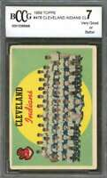 Cleveland Indians Cl Team Card 1959 Topps #476 BGS BCCG 7