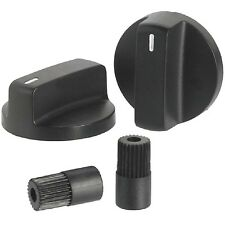 Gas Grill Knob Set 2pc Universal Burner Control BBQ Propane Parts Repair Black