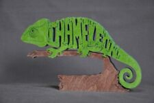 Chameleon Lizard Reptile  Wooden Amish made Scroll Saw Toy Puzzle  New
