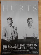 HURTS  2011  BERLIN  ++  orig.Concert Poster - Konzert Plakat  A1  NEU