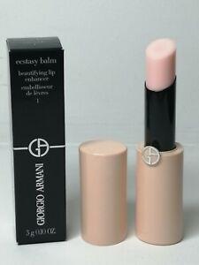Giorgio Armani Ecstasy Balm #1 Soft Nude (Light Pink) 3g, Full Size Brand New