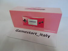CONSOLE NINTENDO GAME BOY MICRO ROSA PINK - NUOVO NEW PAL VERSION