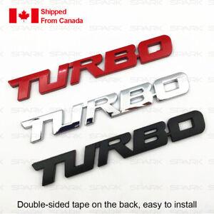 3D Turbo Metal Emblem Car Bumper Trunk Fender Decal Logo Badge.For Toyota etc