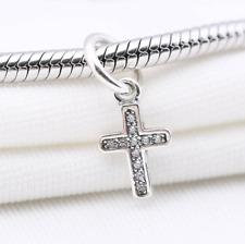 Genuine PANDORA Sterling Silver Symbol Of Faith Cross Dangle Charm Pendant + Bag