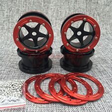 Rc Rock Crawler METAL BEADLOCK 2.2 Wheel Rim (4) Black For RC 1/10 AXIAL WRAITH