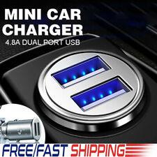 Universal Mini Dual USB Car Charger Twin Port 12V 4.8A Lighter Socket Adapter