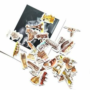 Global Iconic Landmark Stickers for Crafts, PC,Travel, School Bag [42]