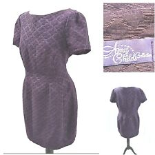 Amy Childs Pencil Wiggle Mini Dress Size 16 UK Purple Party Occasion Cocktail