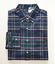 NWT Men's Ralph Lauren Casual Long-Sleeve Oxford Shirt, Blue, Green L Large
