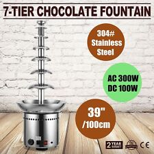 """39""""Commercial Electrics 7 Tiers Hotel Stainless Steel Chocolate Fountain Set"""