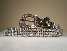 ON SALE!!!New Women's Nocona Croc Leather Crystal Bling Belt Size Lg 33-38 holes