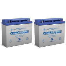 Power-Sonic 2 Pack - 12V 18Ah APC Smart-UPS 1500VA USB SER, SUA1500US UPS Batter