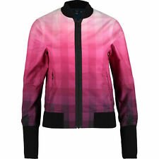 FRED PERRY Laurel Wreath 'Ombre Check Print Bomber Jacket' Size: UK 10 NEW