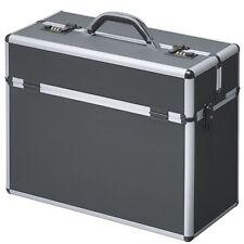 Pilot Case Bag Briefcase  Aluminium  Black Executive Travel Work Flight  49036