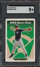 1993 Topps Derek Jeter #98 Yankees Rookie Card SGC 9 MINT CENTERED