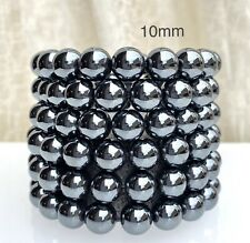 Wholesale Lot 6 Pcs Natural Hematite 10mm 7.5� Crystal Healing Stretch Bracelet