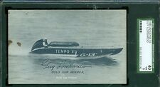 1948-49 Exhibit Champions Card - Guy Lombardo - Boat Racing - SGC 40 - Blue Tint