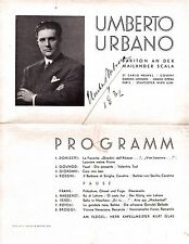 UMBERTO URBANO opera baritone large signed program in Vienna 1932 scarce