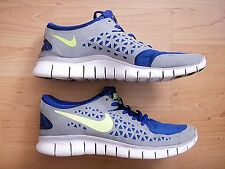 NICE NIKE FREE RUN + PLUS BLUE MESH GRAY SUEDE MEN'S RUNNING TRAINING SHOES 8