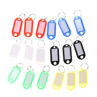 20pcs Keychain Key Split Ring ID Tags Name Card Label Luggage Bag Tag jE