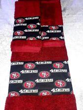 San Francisco 49ers 3 Piece Bath Towel Set Handmade   GREAT GIFT!!!
