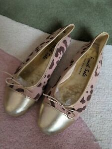 French Sole Blush Gold Ballet Flats Size 41 7.5
